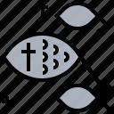 christian, cross, fish, god, ichthy, jesus icon