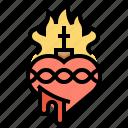 christian, god, heart, love, spirit, true icon