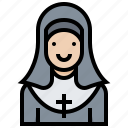 catholic, convent, missionary, nun, priest, sister icon
