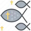 christian, cross, fish, god, ichthy, jesus icon