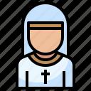 avatar, boy, christian, communion, nun, people, religion
