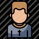 avatar, boy, christian, communion, pastor, people, religion icon