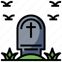 cemetery, death, halloween, rip, stone, tomb, tombstone icon
