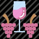 berries, berry, bouquet, fruit, grape, grapes, restaurant icon