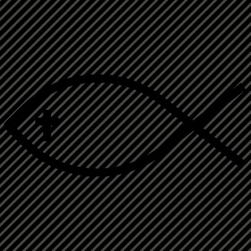 Catholic, christian, christianity, fish, religion, religious, shapes icon - Download on Iconfinder