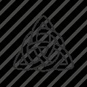 catholic, christian, christianity, religion, trinity, triquetra icon