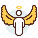 angel, christian, religion icon