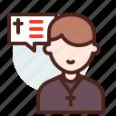 christian, man, preaching, religion icon