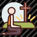 christian, kneeling, praying, religion