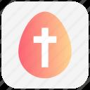 christmas, cross sign, egg, holiday