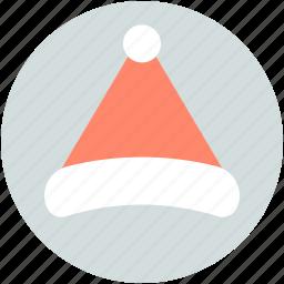 hat, santa cap, santa claus, santa hat, xmas clothing icon
