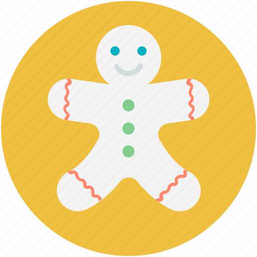 bakery food, christmas cookie, ginger man, gingerbread, gingerbread man icon