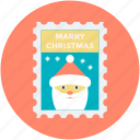christmas card, christmas greeting, greeting card, santa claus, wishing card icon