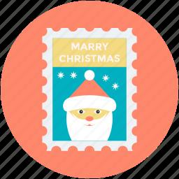 christmas card, christmas greeting, greeting card, santa claus, wishing card icon