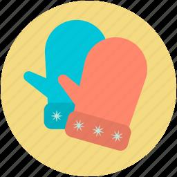 gloves, mitten, snow glove, winter gloves, winter wear icon