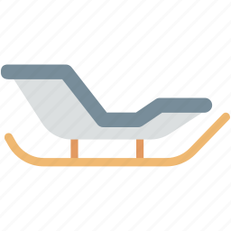 sled, sledge, sleigh, snow sleigh, snow transport icon