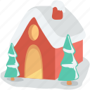 cottage, home, winter house, christmas house, gingerbread house