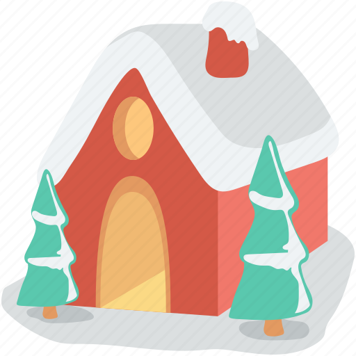 christmas house, cottage, gingerbread house, home, winter house icon