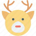 animal face, christmas reindeer, deer, reindeer face, elk
