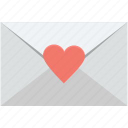 envelope, love greeting, love letter, love message, valentine greeting icon