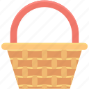 basket, carry basket, gift basket, hamper, shopping basket icon