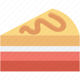 bakery food, cake piece, dessert, food, sweet icon
