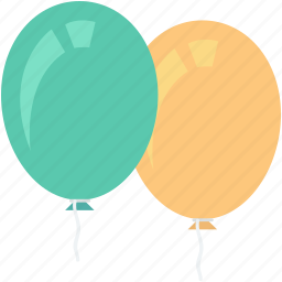 balloons, birthday balloons, decorations, party balloon, party decorations icon