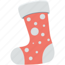 christmas, christmas socks, christmas stocking, fur stocking, stocking icon