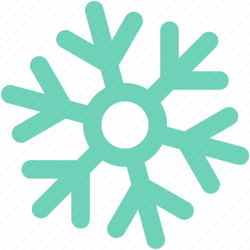Snow falling, snowflake, frost, winter, christmas icon