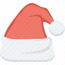 hat, santa cap, santa claus, santa hat, xmas clothing icon