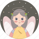 angel, celebration, christmas, holiday icon