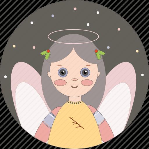 angel, celebration, christmas, holiday icon