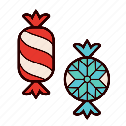 candy, chocolate, christmas, christmas candies, sweets, toffee icon