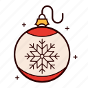 balls, christmas, decoration, holiday, ornament, snowflake icon