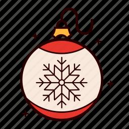 balls, christmas, decoration, holiday, ornament, snowflake icon