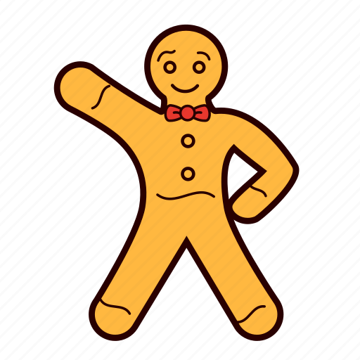 bow, cookie, decoration, gingerbread, gingerbread man, hi, man icon