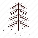 christmas, pine, snow, tree icon