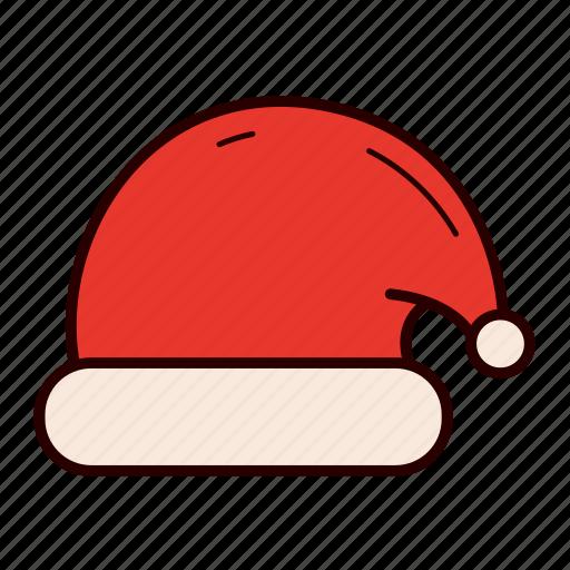 christmas, hat, holiday, red, santa, santa's hat, warm icon