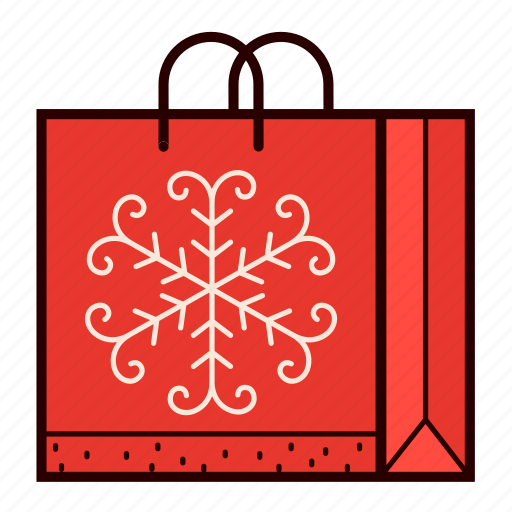 bag, christmas, gift, present, shopping, snowflake icon