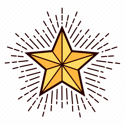 christmas, decoration, shiny, star, starburst, tree topper icon