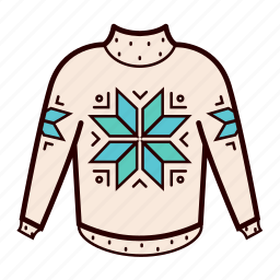 christmas, fashion, hipster, knit, snowflake, sweater, winter icon