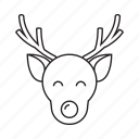 animal, christmas, decoration, deer, moose, reindeer, xmas icon