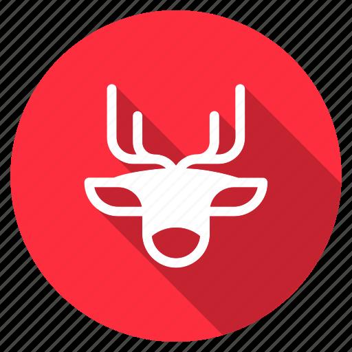 animal, christmas, deer, santa, snow, train, xmas icon