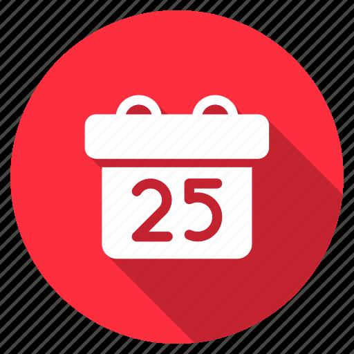 calendar, celebration, christmas, date, day, december, xmas icon
