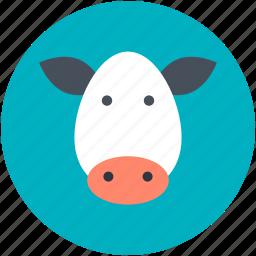 animal head, buffalo, cow, cow head, mammal icon