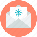 christmas card, christmas greeting, greeting card, snowflake, wishing card icon