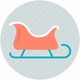 sled, sledge, sleigh, snow sleigh, snow transport icon