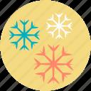 christmas snowflake, snow falling, snowflake, snowflake ornament, winter decoration icon
