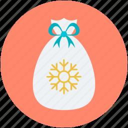 christmas sack, gifts sack, santa claus, santa sack, xmas gifts icon