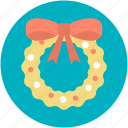 christmas decorations, christmas ornament, christmas wreath, garland, wreath icon